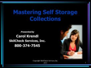 mastering self storage collections - july 2013