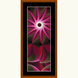 fractal 498 bookmark cross stitch pattern by cross stitch collectibles