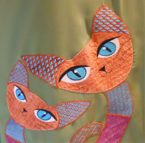 Big Crazy Cats - Cali & Cal - EXP | Crafting | Embroidery
