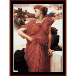 At the Fountain - Leighton cross stitch pattern by Cross Stitch Collectibles | Crafting | Cross-Stitch | Wall Hangings