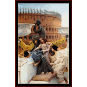 coliseum - alma tadema cross stitch pattern by cross stitch collectibles
