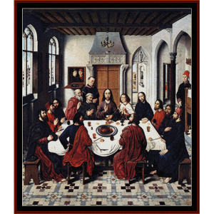 the last supper i - religious cross stitch pattern by cross stitch collectibles