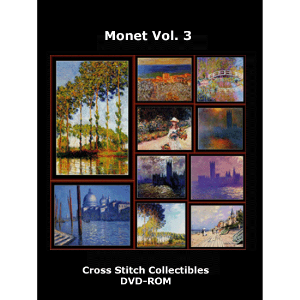 monet vol 3 dvd by cross stitch collectibles
