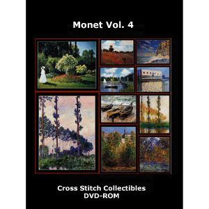 monet vol. 4 dvd by cross stitch collectibles