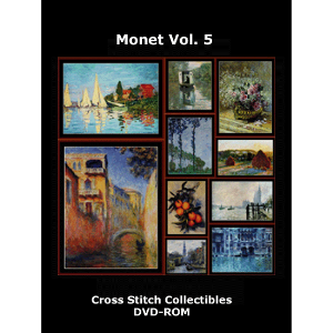 monet vol. 5 dvd by cross stitch collectible