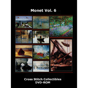 monet vol 6 dvd by cross stitch collectibles