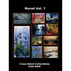 monet vol 7 dvd by cross stitch collectibles