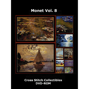 monet vol. 8 dvd by cross stitch collectibles