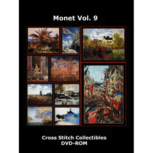 monet vol 9 dvd by cross stitch collectibles