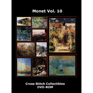 monet vol 10 dvd by cross stitch collectibles