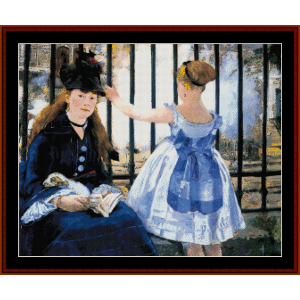 Gare St. Lazare - Manet cross stitch pattern by Cross Stitch Collectibles | Crafting | Cross-Stitch | Wall Hangings