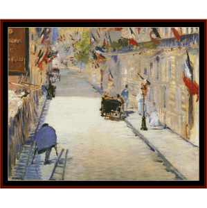 Rue Mosnier - Manet cross stitch pattern by Cross Stitch Collectibles | Crafting | Cross-Stitch | Wall Hangings