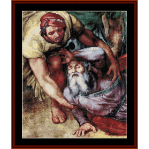 Conversion of Saul - Michelangelo cross stitch pattern by Cross Stitch Collectibles | Crafting | Cross-Stitch | Wall Hangings