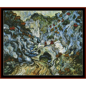 path through a ravine postersize - van gogh cross stitch pattern by cross stitch collectibles