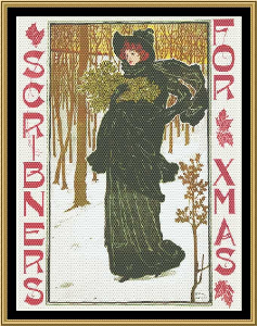 art nouveau poster collection - scribners for xmas