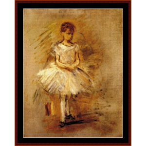 little dancer - morisot cross stitch pattern by cross stitch collectibles