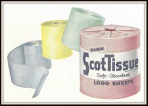 scott paper company magazine ads package