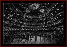 metropolitan opera house 1910 - photograph cross stitch pattern by cross stitch collectibles