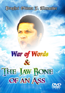 war of words and the jaw bone of an ass