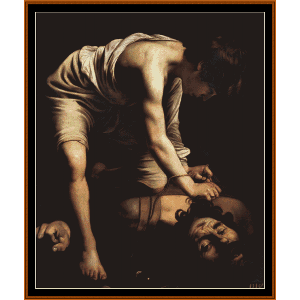 David and Goliath II - Caravaggio cross stitch pattern by Cross Stitch Collectibles | Crafting | Cross-Stitch | Wall Hangings