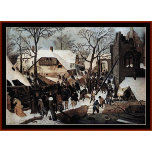 Adoration of the Magi - Bruegel cross stitch pattern by Cross Stitch Collectibles | Crafting | Cross-Stitch | Wall Hangings