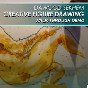 creative figure drawing walk-through demo video