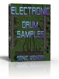 electronic drum samples  - single hits  wave drums -  drum kit
