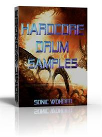 hardcore one shot drums and synth hits  - wave samples -