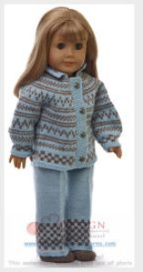dollknittingpattern 0128d emmeline - sweater, pants, hat and socks-(english)