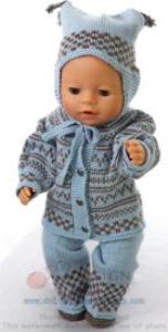 dollknittingpatterns - 0128d emmeline - jacke, hose, mütze und socken -(deutsch)