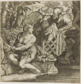 palestrina : susanna ab improbis senibus : transposed score