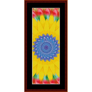 fractal 472 bookmark cross stitch pattern by cross stitch collectibles