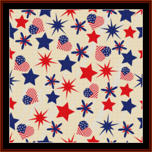 Abstract 4th of July cross stitch pattern by Cross Stitch Collectibles | Crafting | Cross-Stitch | Other