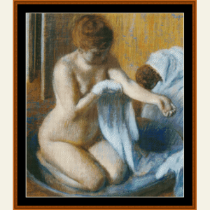 After the Bath, 1886 - Degas cross stitch pattern by Cross Stitch Collectibles | Crafting | Cross-Stitch | Wall Hangings