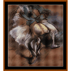 Dancer Adjusting Slipper - Degas cross stitch pattern by Cross Stitch Collectibles   Crafting   Cross-Stitch   Wall Hangings