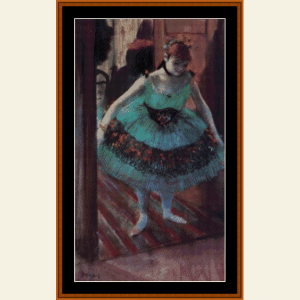dancer leaving dressing room - degas cross stitch pattern by cross stitch collectibles
