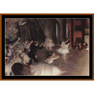 The Rehearsal on Stage - Degas cross stitch pattern by Cross Stitch Collectibles | Crafting | Cross-Stitch | Wall Hangings