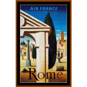 rome - vintage poster cross stitch pattern by cross stitch collectibles
