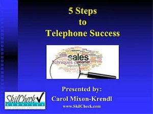 5 steps to telephone success