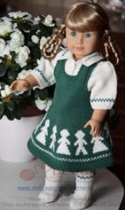 dollknittingpattern 0012d kari - skirt, blouse, socks and pant-(english)