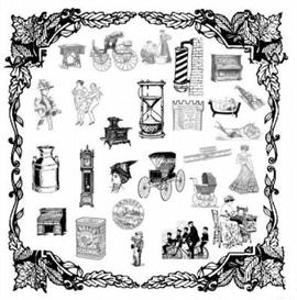 Vintage Old Time Clip Art for Scrapbooking & More | Other Files | Clip Art