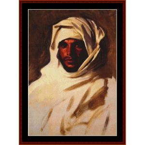 bedouin arab - sargent cross stitch pattern by cross stitch collectibles