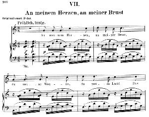 an meinem herzen, an meiner brust op.42 no.7, low voice in c major,  r. schumann (dichterliebe). c.f.peters.