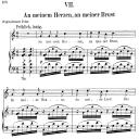 An meinem Herzen, an meiner Brust Op.42 No.7, Low Voice in C Major,  R. Schumann (Dichterliebe). C.F.Peters.   eBooks   Sheet Music