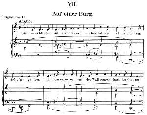 auf einer burg op.39 no.7,  low voice in e minor,  r. schumann (dichterliebe). c.f.peters.