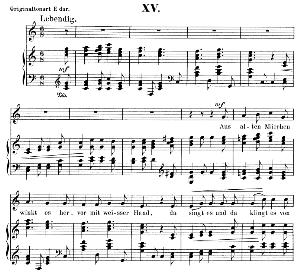 aus alten märchen op.48 no.15, low voice in c major,  r. schumann (dichterliebe). c.f. peters.