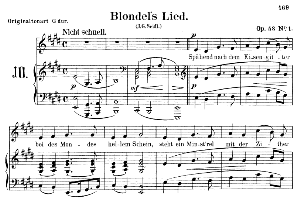 blondels lied op.53 no.1, low voice in e major, r. schumann. c.f. peters.