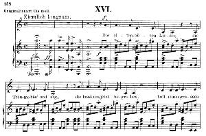 die alten bösen lieder op.48 no.16, low voice in a minor,  r. schumann (dichterliebe). c.f. peters.