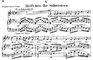 helft mir ihr schwerstern op. 42 no.5, low voice in a flat major, r. schumann (frauenliebe-und-leben). c.f. peters.