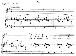 hör' ich das liedchen klingeln op.48 no.10, low voice in e minor, r. schumann (dichterliebe).  c.f. peters.